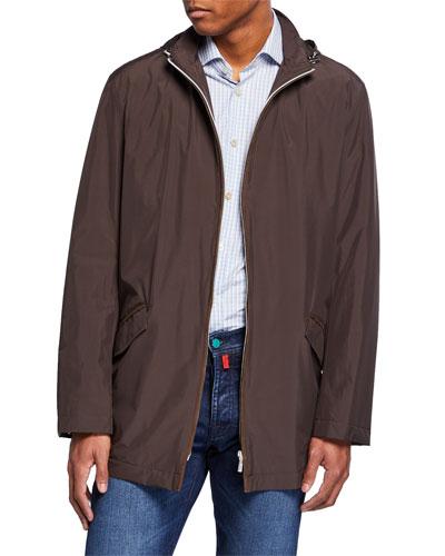 kiton dress shirts poplin \u0026 denim shirts at bergdorf goodman  men\u0027s packable rain coat with hood