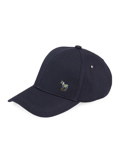 Men's Zebra-Embroidered Baseball Cap