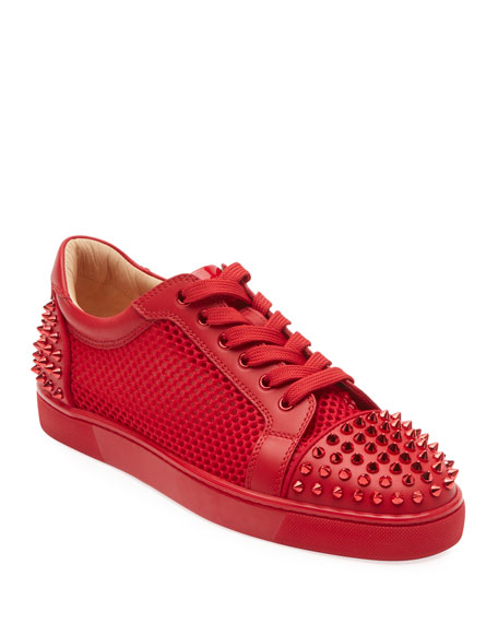 newest f6b3b 45f84 Men's Seavaste Spiked Leather Low-Top Sneakers