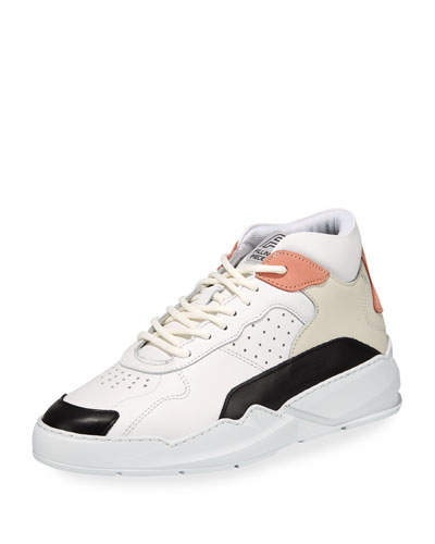 Men's Flow Mid-Top Leather Sneakers