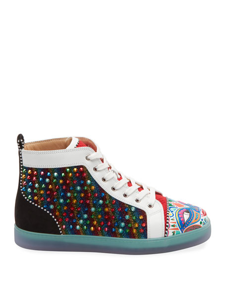 309526e9c61 Men's Tribalouis Multicolor Spiked High-Top Sneakers