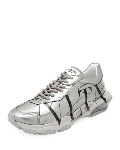 Men's Bounce Logo Runner Sneakers