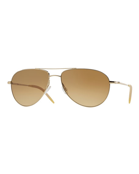 Oliver Peoples Men's Benedict Aviator Sunglasses