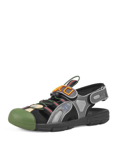 89d72b1d895 Gucci Men s Tinsel Sneaker Sandals