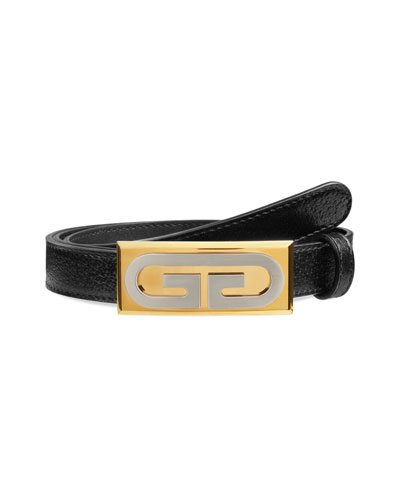 726c7746cc5d Men s Skinny Leather Belt w  Solid Buckle Quick Look. Gucci