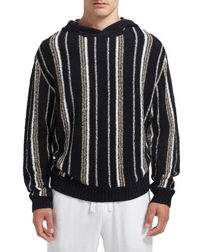 Men's Vertical Striped Pullover Hoodie