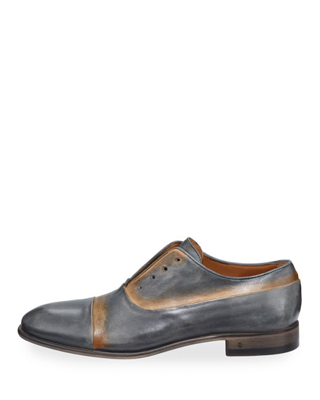 Men's Eldridge Laceless Leather Oxfords