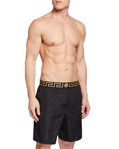 Men's Greek Key Swim Trunks