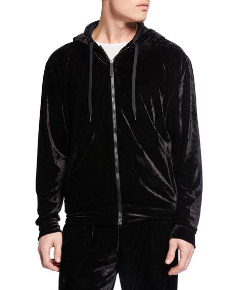 Men's Velvet Zip-Front Track Jacket