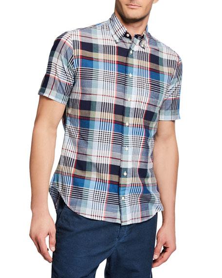 Gitman Brothers Shirt Co. Men's Short-Sleeve Big Plaid