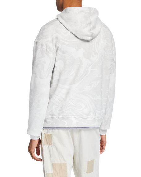 Men's Marble-Wash Pullover Hoodie