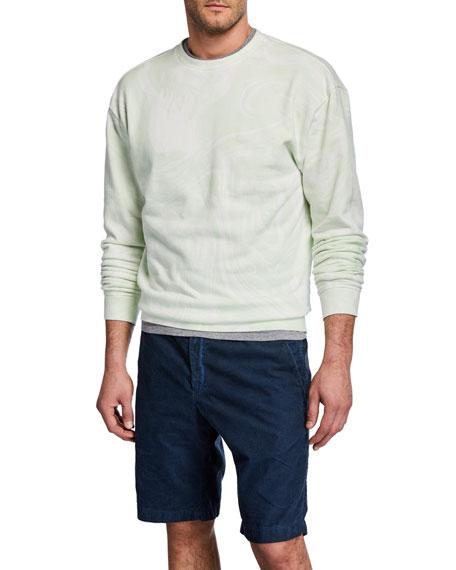 John Elliott Men's Marble-Wash Crewneck Sweatshirt