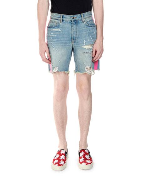 Amiri Men's Vintage Thrasher Stripe Shorts