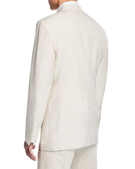Men's Shelton Patch-Pocket Silk Jacket