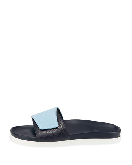 33765194c586 Buscemi Men s Scratch Leather Slide Sandals