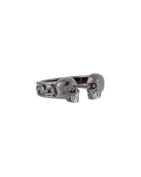 Men's Decorative Skull Ring, Size 10