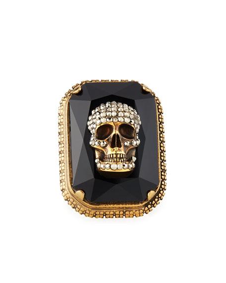Men's Studded Skull Jeweled Ring