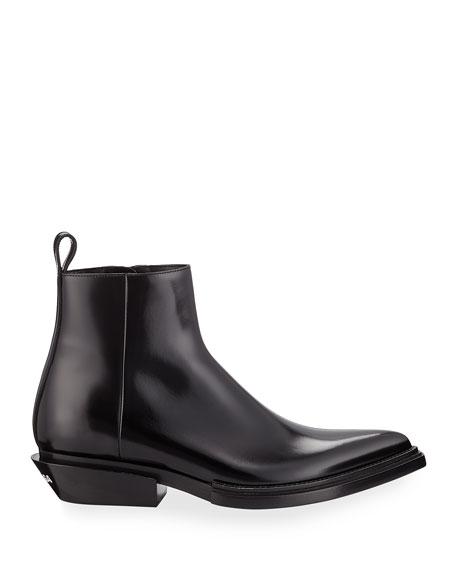 Men's Santiag Calfskin Short Boots