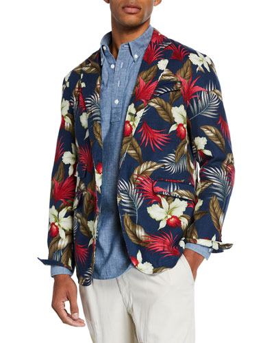 Men's Andover Hawaiian Print Sport Jacket