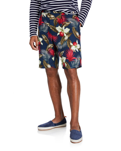 Men's Hawaiian Print Sunset Shorts