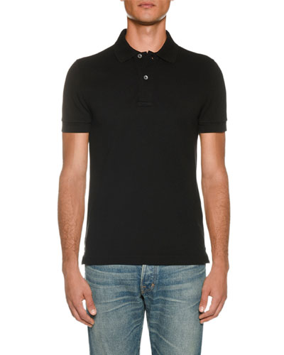 Men's Pique Short-Sleeve Polo Shirt
