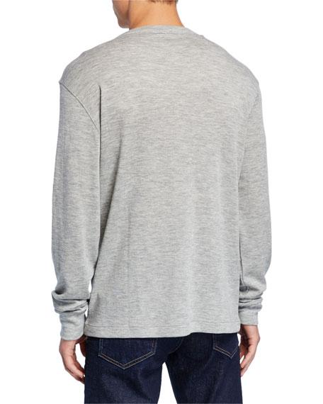 Men's Long-Sleeve Cashmere T-Shirt