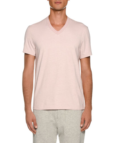 Men's Short-Sleeve V Neck T-Shirt
