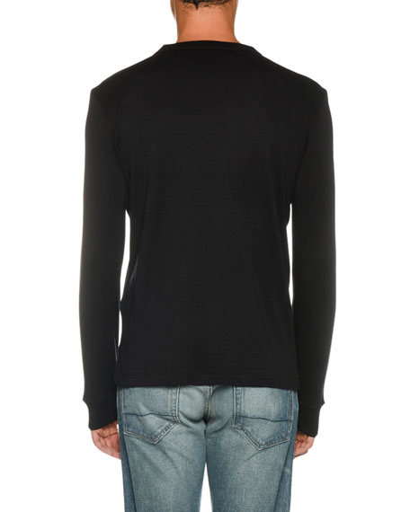 Men's Long-Sleeve Solid T-Shirt