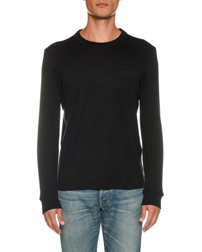 tom ford men\u0027s apparel suits, jeans \u0026 shirts at bergdorf goodman  men\u0027s long sleeve solid t shirt