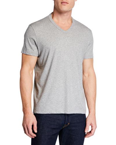 Men's Short-Sleeve V-Neck T-Shirt  Gray