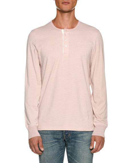 TOM FORD Men's Long-Sleeve Henley Shirt