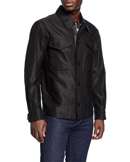 Men's Sateen Jacket w/ Front Pockets
