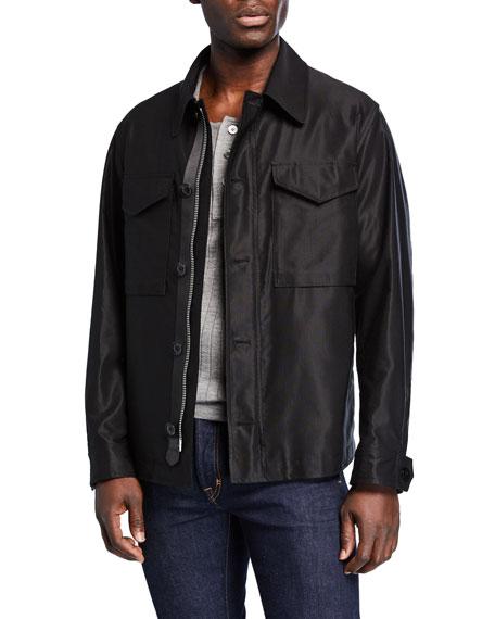 TOM FORD Men's Sateen Jacket w/ Front Pockets