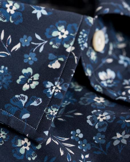 Men's Short-Sleeve Floral Sport Shirt