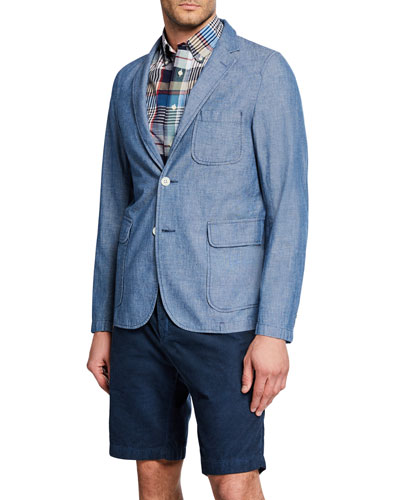 Men's Unconstructed Chambray Sport Jacket