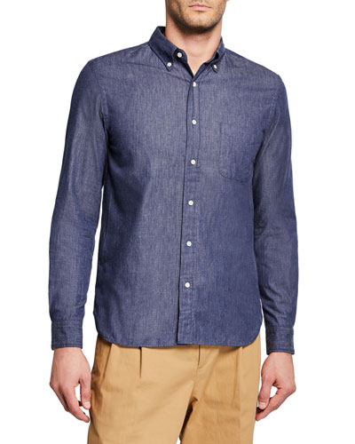 Men's Denim Chambray Sport Shirt