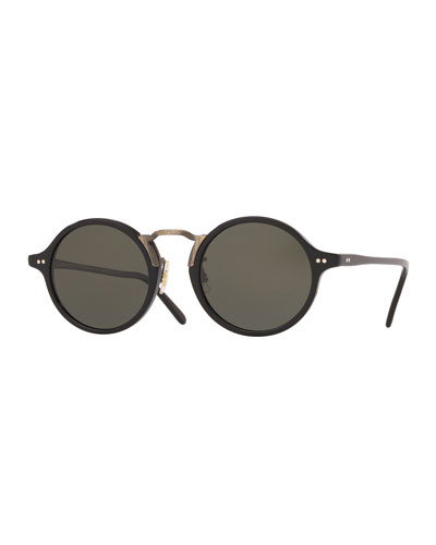 84213a5f0 Oliver Peoples Men's Sunglasses : Round Sunglasses at Bergdorf Goodman