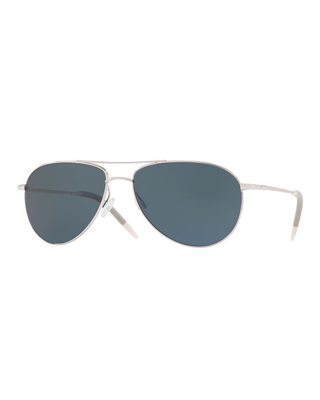 Oliver Peoples Men's Benedict 59 Aviator Sunglasses -