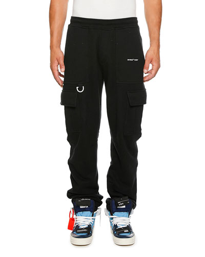 Men's Logo-Detail Cargo Sweatpants
