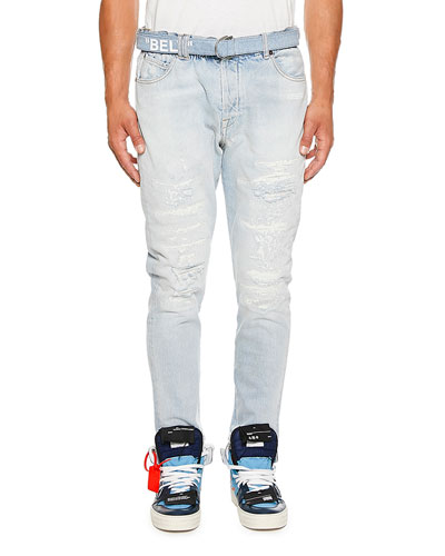 Men's Slim-Fit Low Crotch Denim Jeans