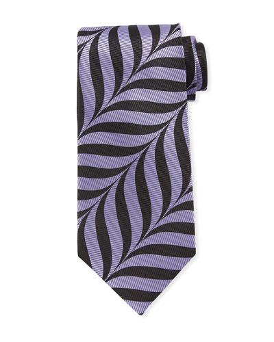 Abstract-Print 9cm Tie  Purple