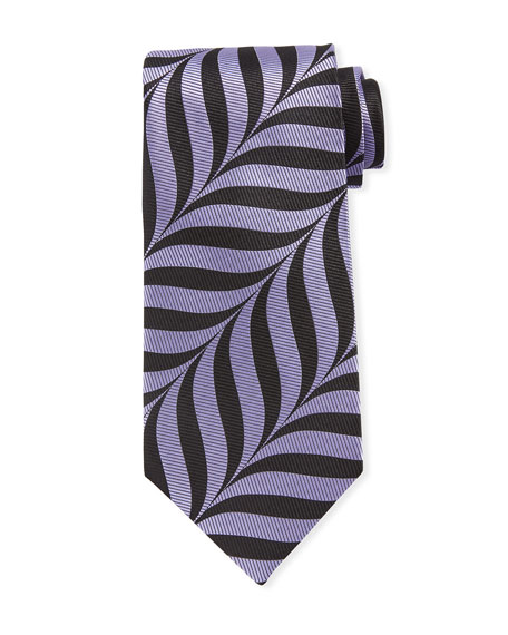 Abstract-Print 9cm Tie, Purple