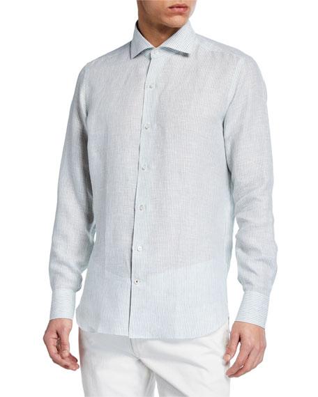 Men's Albert Summer Striped Arizona Linen Sport Shirt