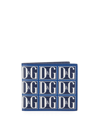 Men's Logo Tile Bifold Wallet