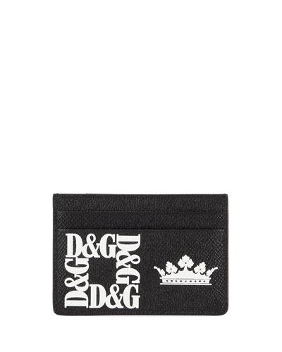 Men's Logo Money Clip Card Case