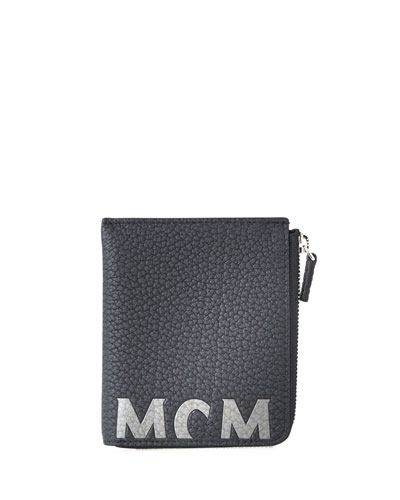 Men's Big Logo Leather Zip Wallet