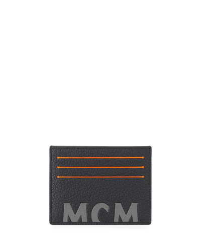 Men's Big Logo Leather Card Case