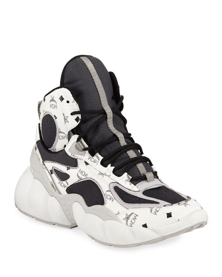 MCM Men's Luft Collection High-Top Sneakers