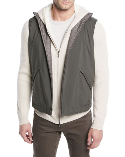 Men's Marlin Reversible Zip-Front Vest
