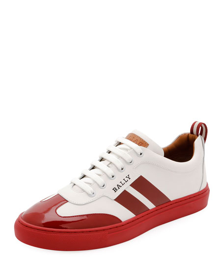 Bally Men's Hendrick Low-Top Wing-Tip Leather Sneakers